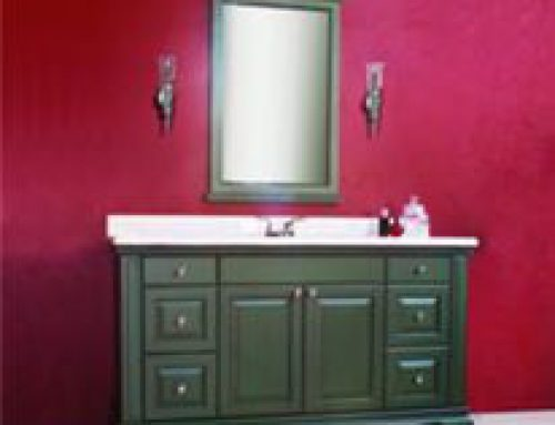 Beaded Inset Custom Vanity